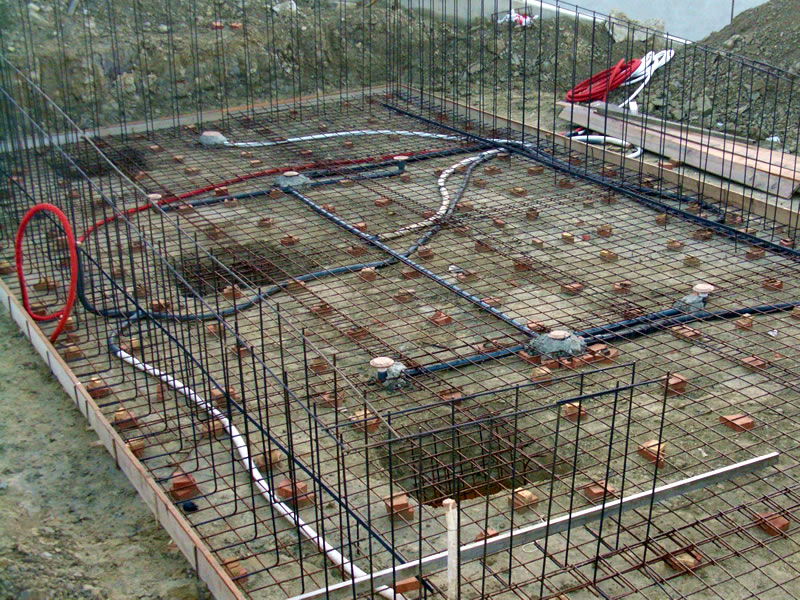 costruzione piscina in cemento armato